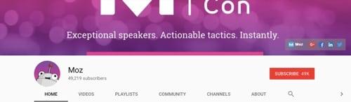 11 kênh YouTube hữu ích cho digital marketing Moz