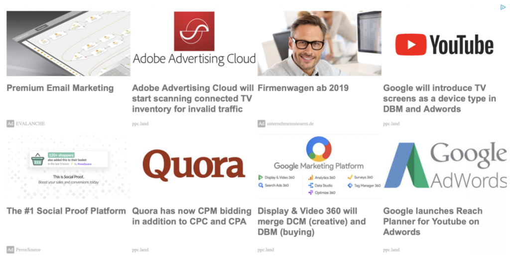 Google recommended content (Adsense Matched Content) in PPC Land