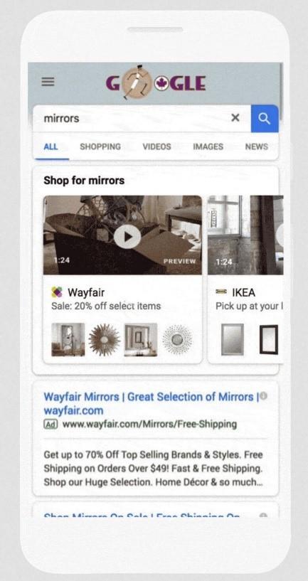quảng cáo mua sắm video. Top 10 update của Google Ads trong năm 2018