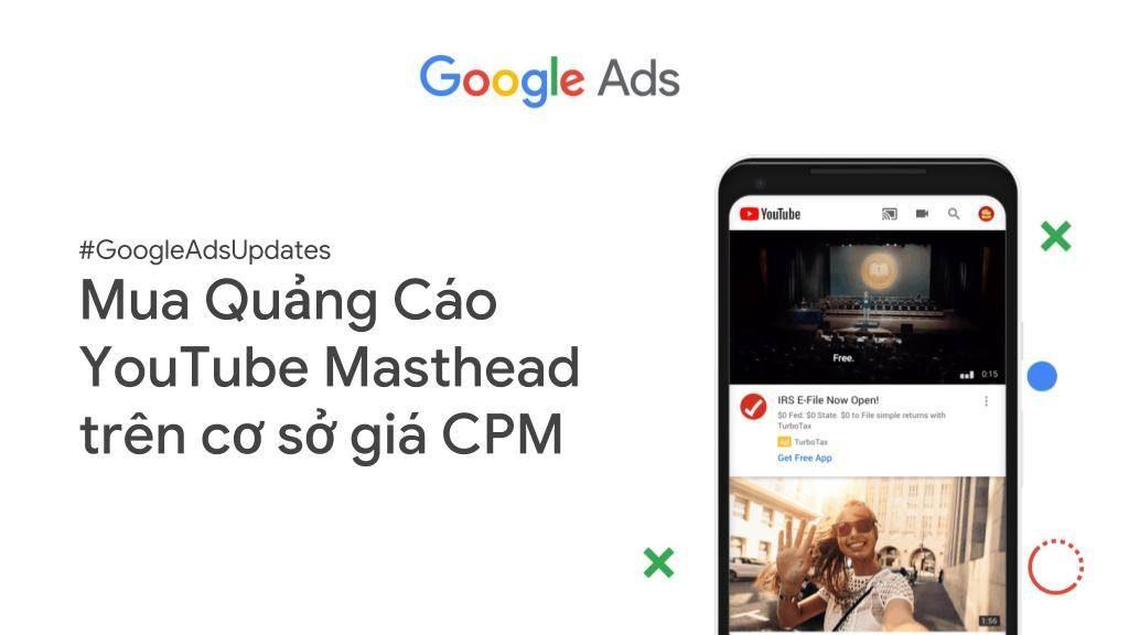Mua quảng cáo YouTube masthead với cơ sở giá CPM