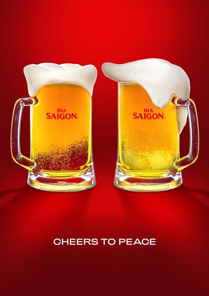 Bia Saigon nâng cốc vì hoà bình