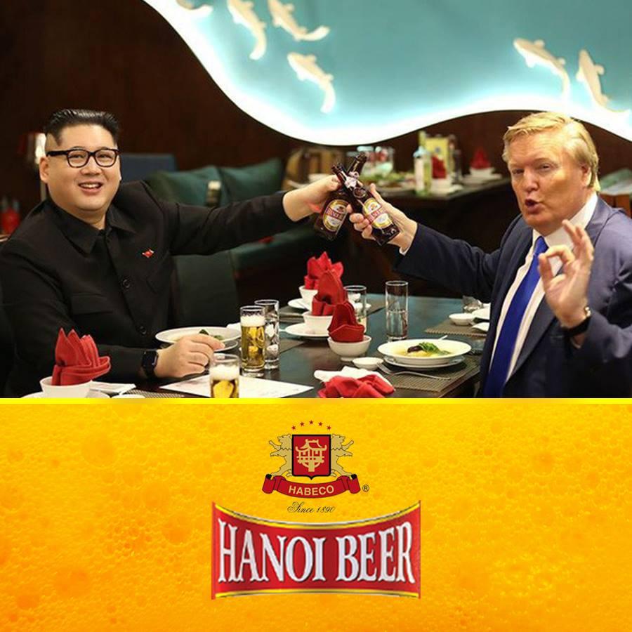 Bia Hà Nội không kém cạnh Bia Sài Gòn. Họ còn có hình ảnh thật của hai nhân vật rumour đến trước