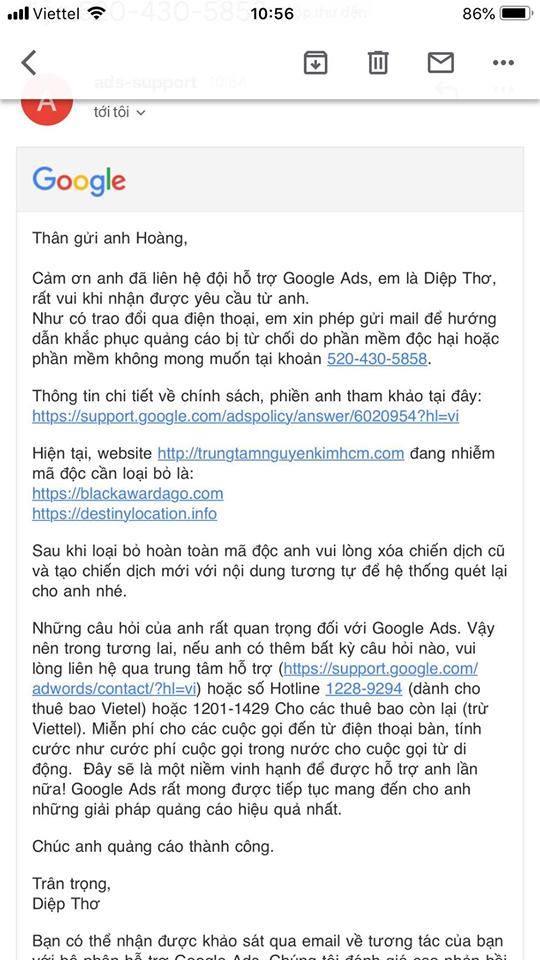 Quảng cáo Google: Xử lý triệt để mã độc website