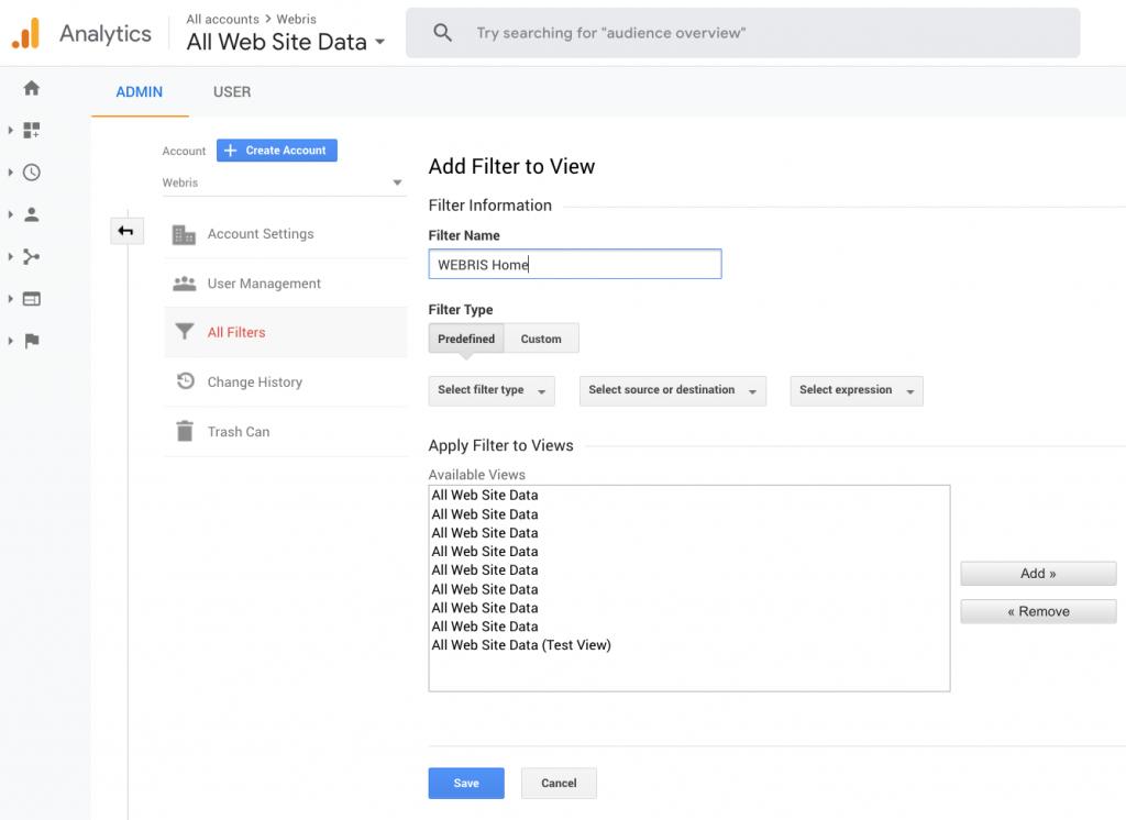 Thêm bộ lọc GA. Cách thiết lập bộ lọc Google Analytics cho lưu lượng truy cập nội bộ