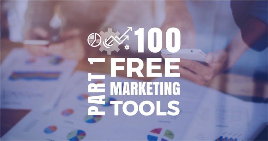 100 công cụ tiếp thị miễn phí phát triển doanh nghiệp [Infographic]