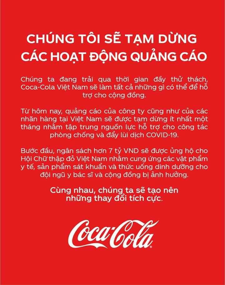Chiến lược marketing của Coca-Cola gây sốc mùa dịch covid-19